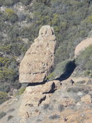 Rock Climbing Photo: Balanced Rock from Sandstone Peak.