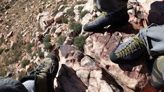 Rock Climbing Photo: Shoe Pic. Birdland.  Red Rock Nevada.  November 20...