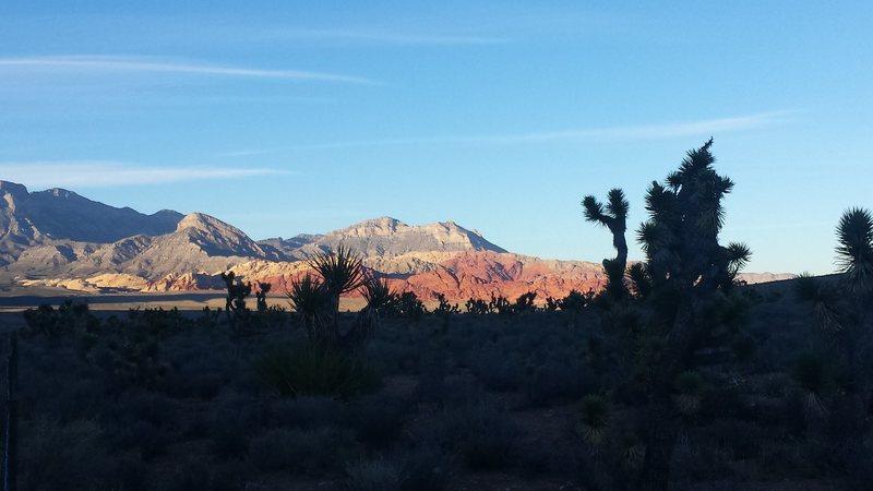 Red Rock Nevada sunset.  November 2015.
