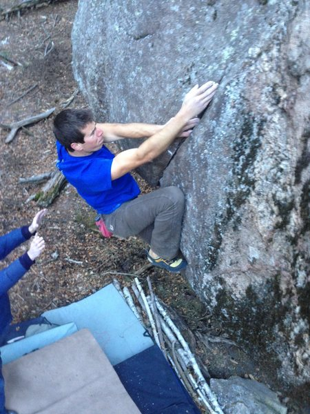 Rock Climbing Photo: right in the crux