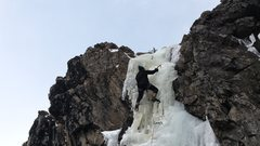 Rock Climbing Photo: First Ice of the season.  Mike C. East Portal Moff...
