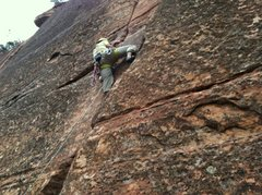 Rock Climbing Photo: Working mid section. Great protection across the e...
