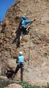 "Rock Climbing Photo: Pam cruising on ""Slotterhouse."""