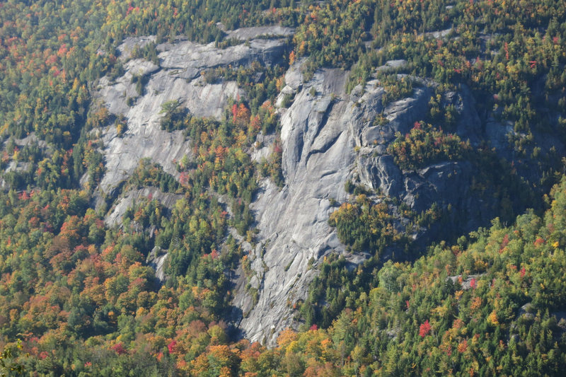 Rock Climbing Photo: Chapel Pond Slab (on the right) and Emperor Slab (...