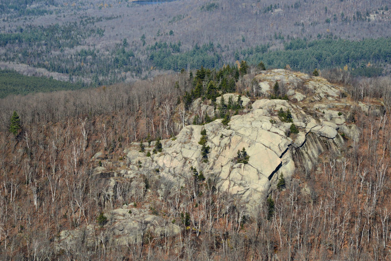 There's a lot of rock at Chimney Mountain (other than the spire). For example, this is the South Face.