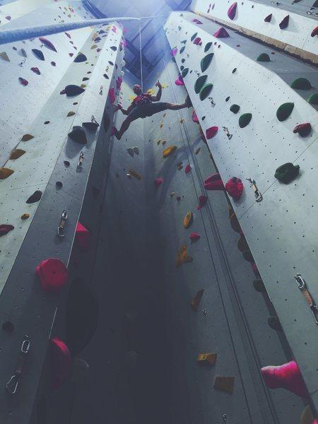 Rock Climbing Photo: At Mesa Rim