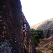 Rock Climbing Photo: lead climb at Ngomo