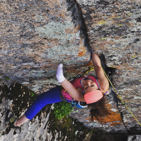 Rock Climbing Photo: Yours truly at Veaduwoo - reds are perfect stumps!...