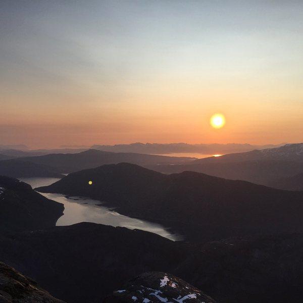 Midnight sun. Stetind, Norway. July 2015