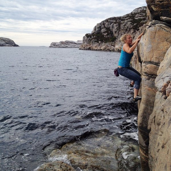Sara warming up with some DWS, West Coast of Norway. 2014
