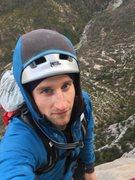 Rock Climbing Photo: Hanging belay, pitch 10. Pinchenibule, Gorges Du V...
