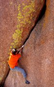 Rock Climbing Photo: Pablo Franck highballing in Vedauwoo