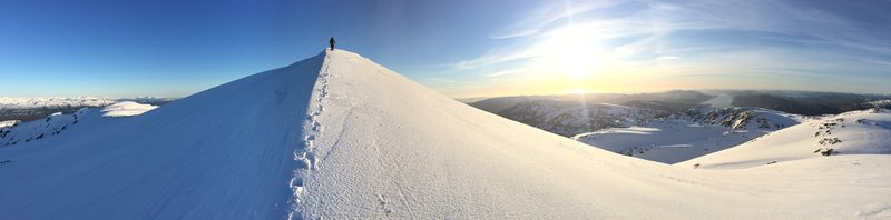 Local hill with Sara. Gullfjellet, Norway. April 2015.