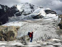 Kristian on the way up Tetnuldi, 4858 m. Svanati, Georgia, September 2015.