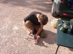 Rock Climbing Photo: Opening a can with a talon hook