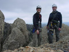 Rock Climbing Photo: Jake Wander and I on top of a route we climbed wit...