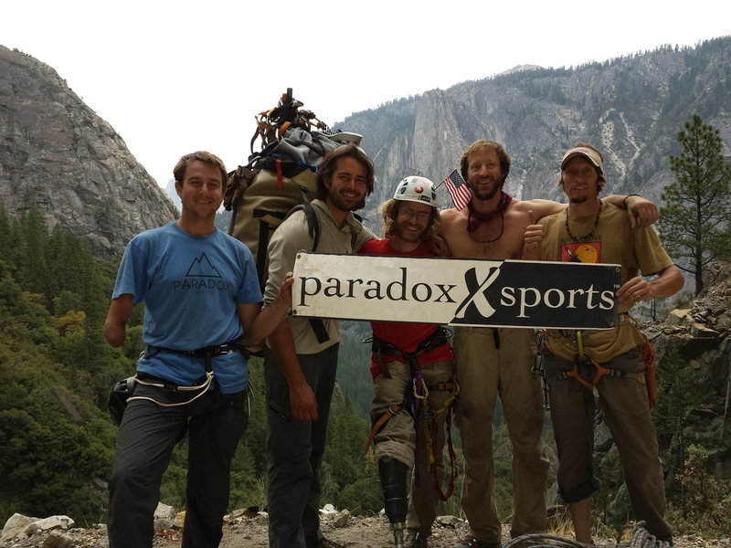 2013 summit party on  El Capitan, Paradox got 4 Veterans safely to the top!
