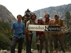 Rock Climbing Photo: 2013 summit party on  El Capitan, Paradox got 4 Ve...
