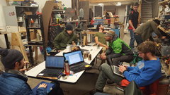 Rock Climbing Photo: Getting down with some planning at the Square Spac...