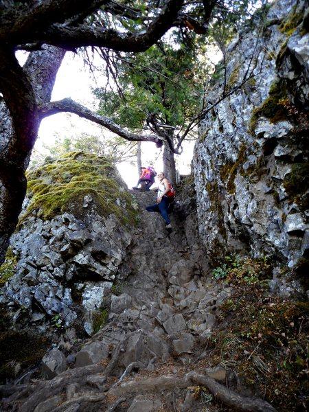 Rock Climbing Photo: The 4th class ramp.