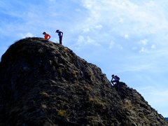 Rock Climbing Photo: Exposed 3rd class to the summit.
