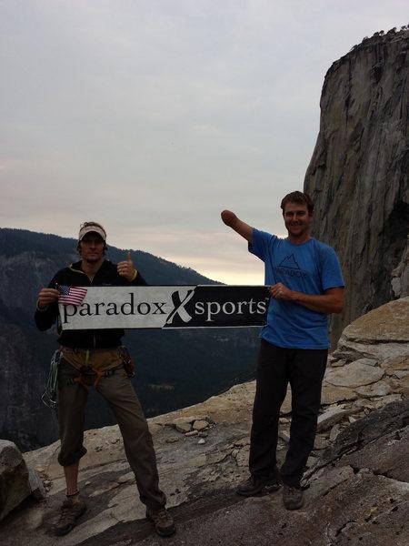 Rock Climbing Photo: Summit Party! El Capitan, Yosemite