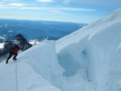Rock Climbing Photo: The late Paul Andrews on the Emmons glacier, Mt Ra...