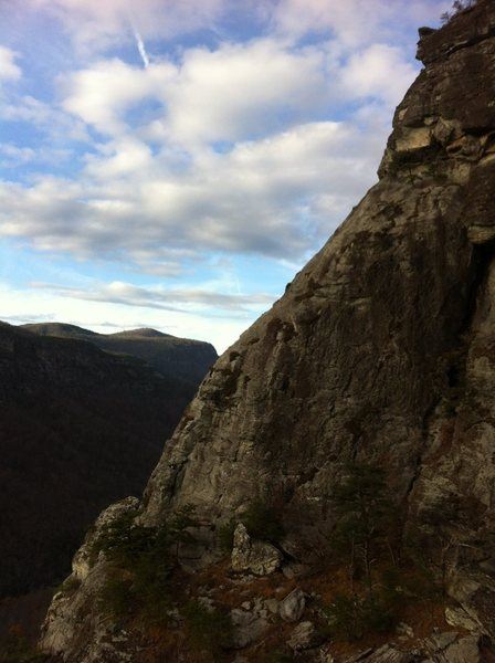 First Multipitch lead. The Prow, Linville Gorge
