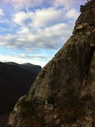 Rock Climbing Photo: First Multipitch lead. The Prow, Linville Gorge