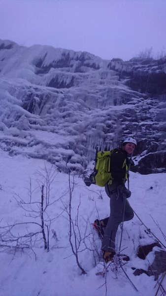 Rock Climbing Photo: 3 pitches of WI4 await! Hemsedal, Norway