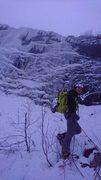 Rock Climbing Photo: 3 pitches of WI4 await! Hemsedal, Norway