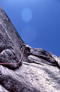 "Rock Climbing Photo: Scott Cole moving further up ""Black Like Me&q..."