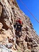 "Rock Climbing Photo: Laura on the start of ""Chuckwalla FA"""