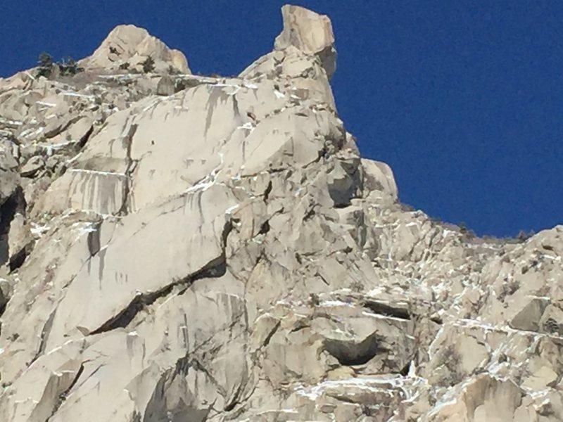 Rock Climbing Photo: Niels Tietze and Singer Smith climbing the Thumb o...