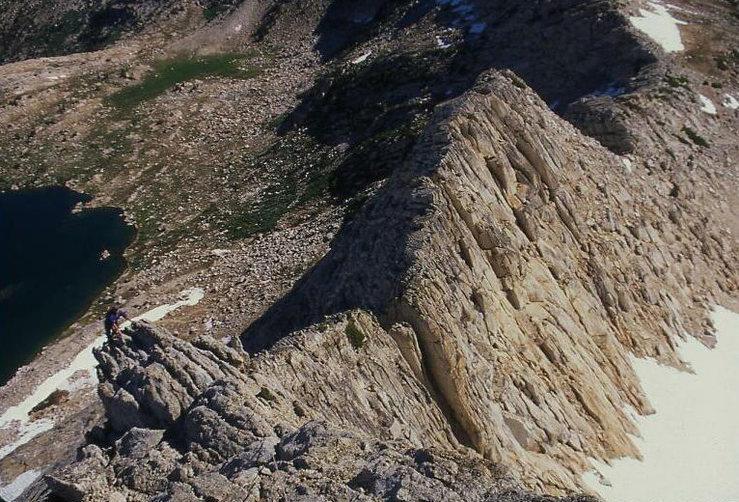 Climbing North Peak<br> Photo by Bill McConachie