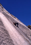 "Rock Climbing Photo: Marc Hill on the first pitch of ""Fire Fingers..."