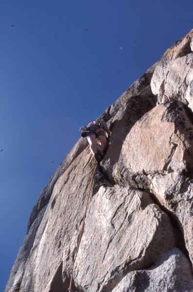 "Rock Climbing Photo: FA of ""Techno-Pig"" (5.12a)"
