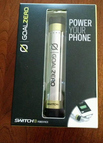 Rock Climbing Photo: Goal Zero Switch 8 rechargeable battery