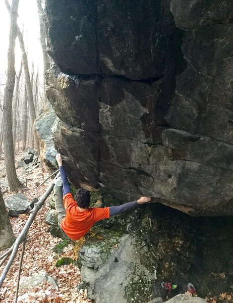 Rock Climbing Photo: Sticking the jug.