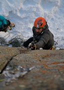 Rock Climbing Photo: Chance Traub making the third ascent of Wicket.