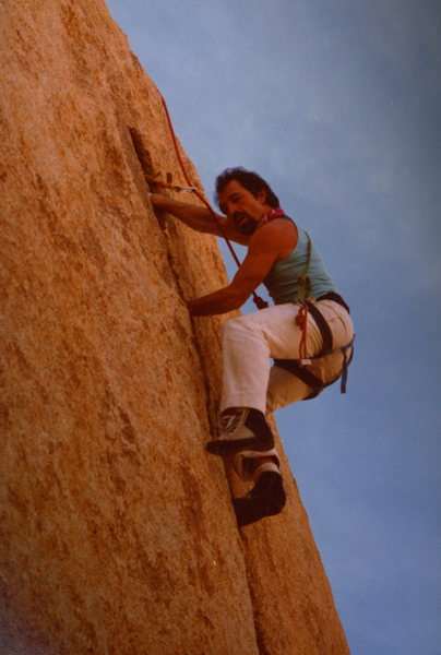 Rock Climbing Photo: Top roping BITD (ca early 1980s)