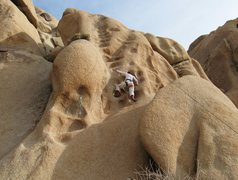 Rock Climbing Photo: Stella on Bumpy at Split Rocks