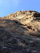 Rock Climbing Photo: R.I.B. is the climb on the right