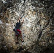 Rock Climbing Photo: Another climber at indian rock park in Berkeley, C...