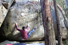 Rock Climbing Photo: Sticking the awesome heel on Call of the Wild