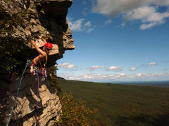 Rock Climbing Photo: My buddy Nick, in the Gunks.