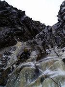 Rock Climbing Photo: My buddy Nick on the Black Dike... WWJBD?