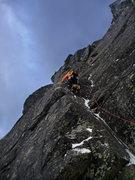 Rock Climbing Photo: Pinnacle Ridge in NH, pretty much the only climb I...