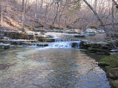 Rock Climbing Photo: One of the many small falls on the creek running t...