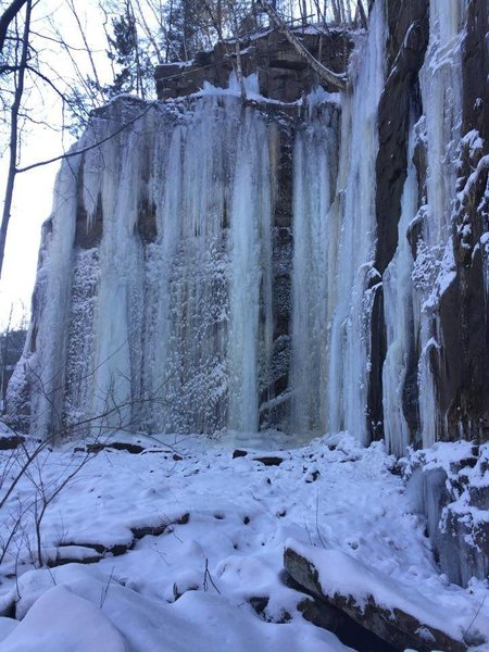 Sandstone Ice Park, 2Jan16<br> photog: Eric O.
